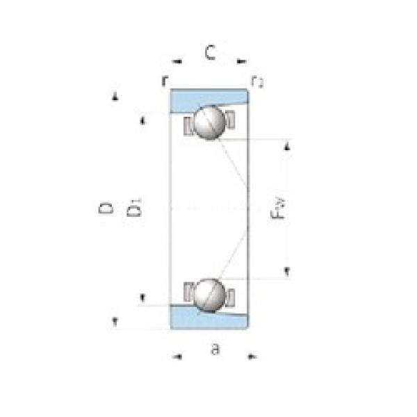 IJK ASA3046 angular contact ball bearings #3 image