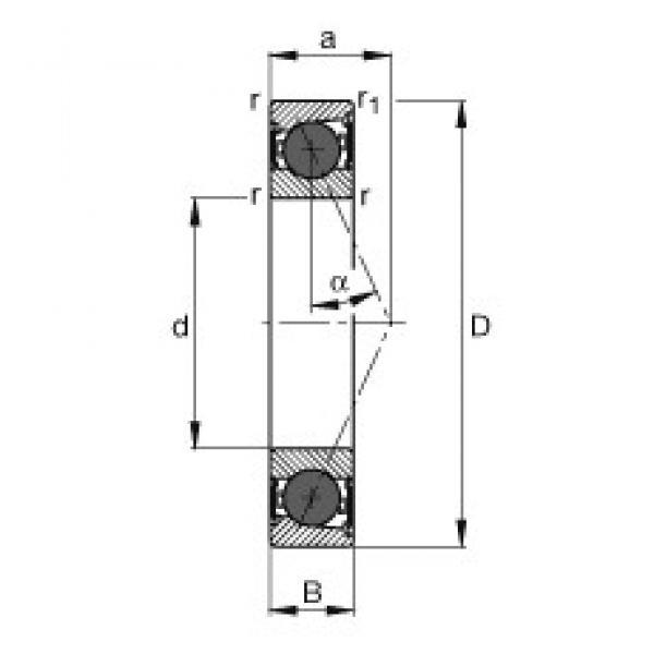 30 mm x 47 mm x 9 mm  FAG HCB71906-E-2RSD-T-P4S angular contact ball bearings #3 image