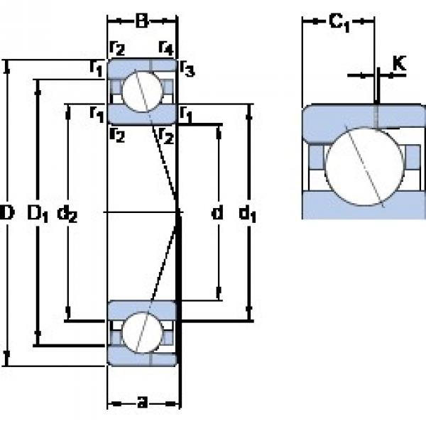 45 mm x 75 mm x 16 mm  SKF 7009 CD/HCP4AH angular contact ball bearings #3 image