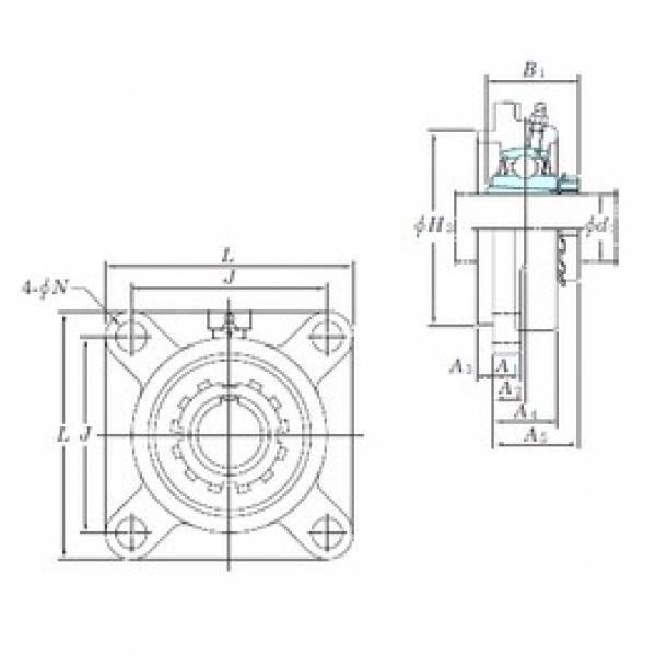KOYO UKFS316 bearing units #3 image