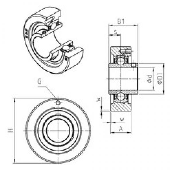 SNR UCC316 bearing units #3 image