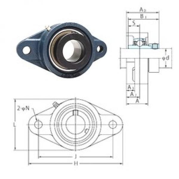 FYH NANFL209-26 bearing units #3 image