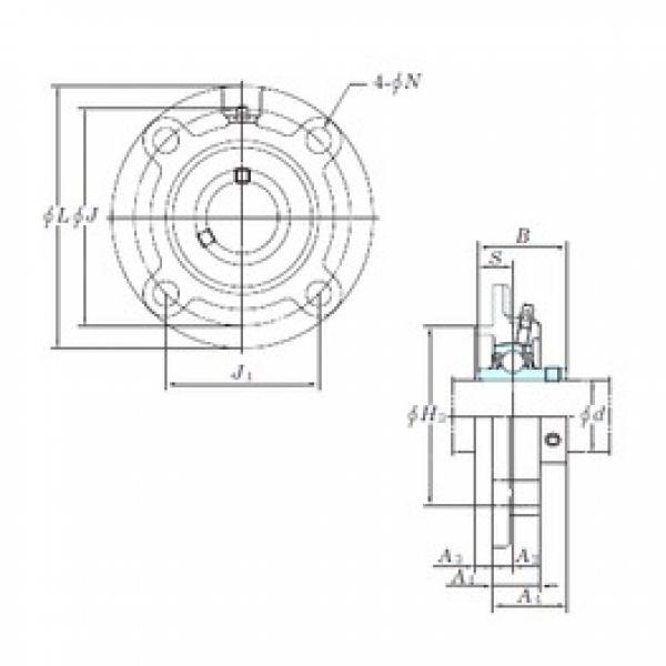 KOYO UCFCX18 bearing units #3 image