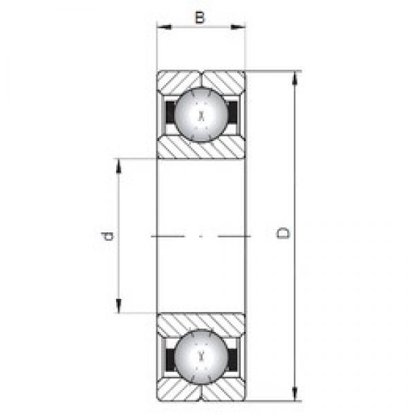 ISO Q1080 angular contact ball bearings #3 image