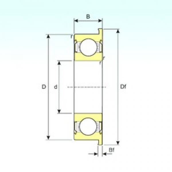 4,762 mm x 12,7 mm x 4,978 mm  ISB FR3ZZ deep groove ball bearings #3 image