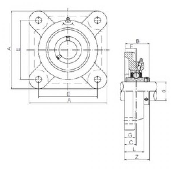 ISO UCF314 bearing units #3 image