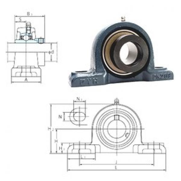 FYH NAPK211-32 bearing units #3 image