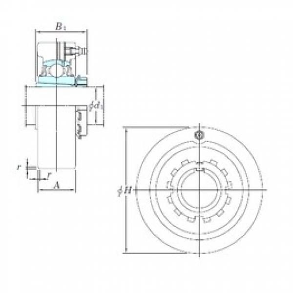 KOYO UKCX12 bearing units #3 image