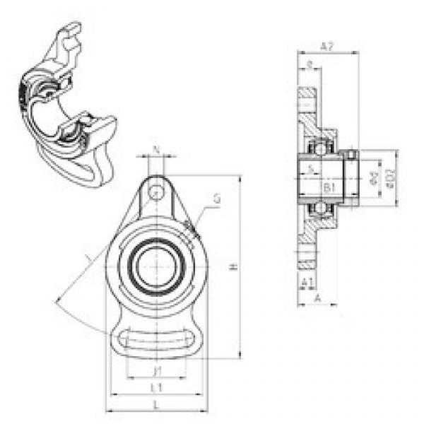 SNR EXFA210 bearing units #3 image