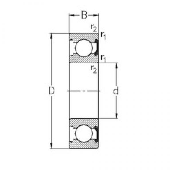 8 mm x 22 mm x 7 mm  NKE 608-2RSR deep groove ball bearings #3 image