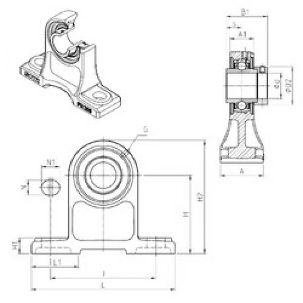 SNR EXPH209 bearing units #3 image
