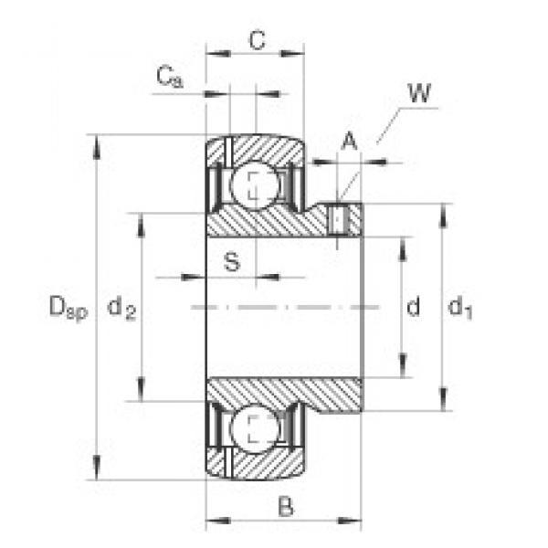 INA GAY45-NPP-B deep groove ball bearings #3 image