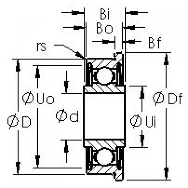AST SFRW2-6ZZ deep groove ball bearings #3 image