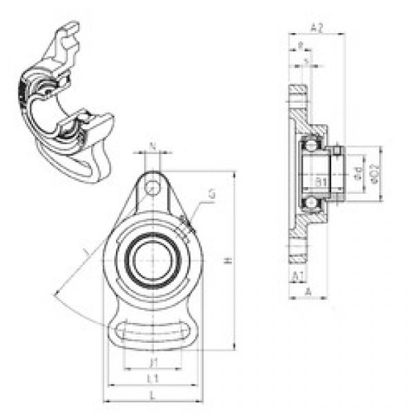SNR ESFA207 bearing units #3 image