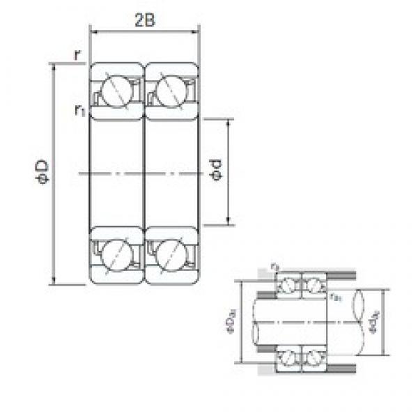 50 mm x 80 mm x 16 mm  NACHI 7010DT angular contact ball bearings #3 image