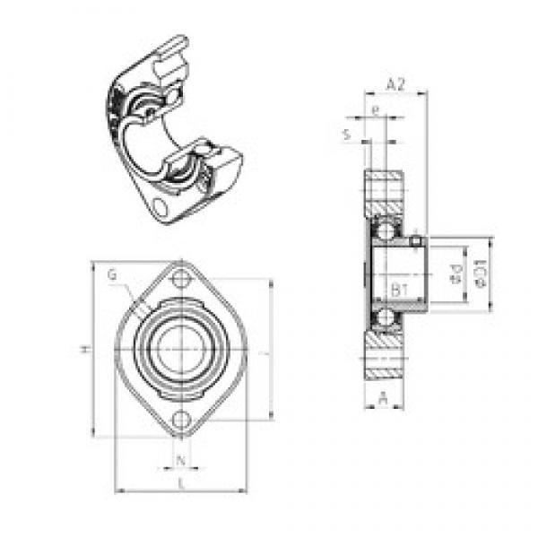 SNR USFD206 bearing units #3 image