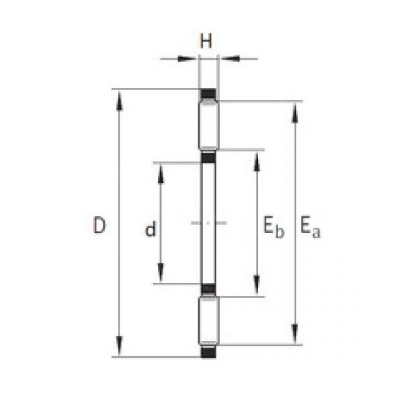 INA AXK300X330X5 needle roller bearings #3 image