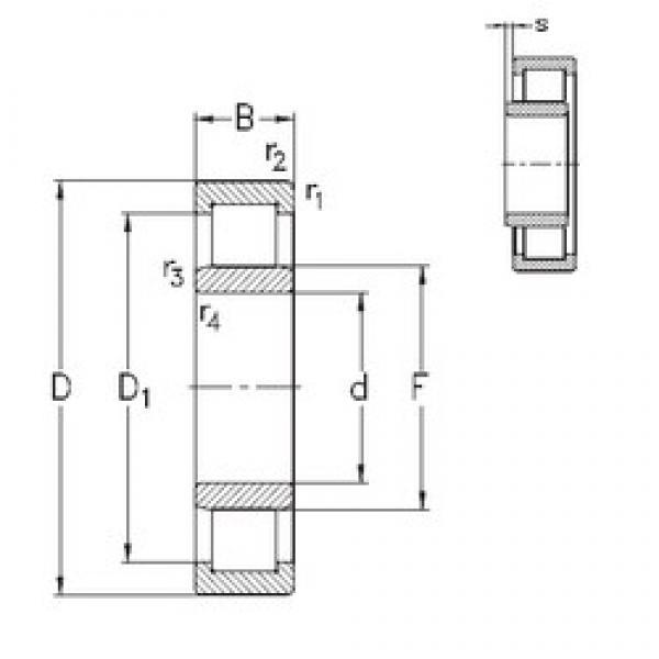 110 mm x 200 mm x 53 mm  NKE NU2222-E-MPA cylindrical roller bearings #3 image