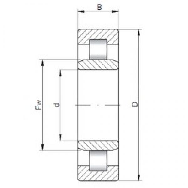320 mm x 480 mm x 74 mm  ISO NU1064 cylindrical roller bearings #3 image