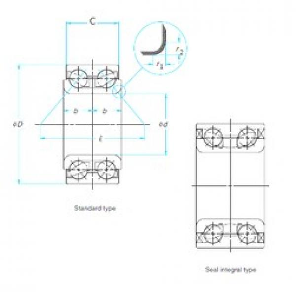 39 mm x 72,06 mm x 37 mm  CYSD DAC39206037 angular contact ball bearings #3 image