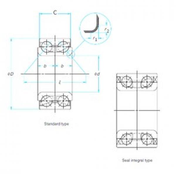 40 mm x 75 mm x 37 mm  SKF BAH0068D angular contact ball bearings #3 image