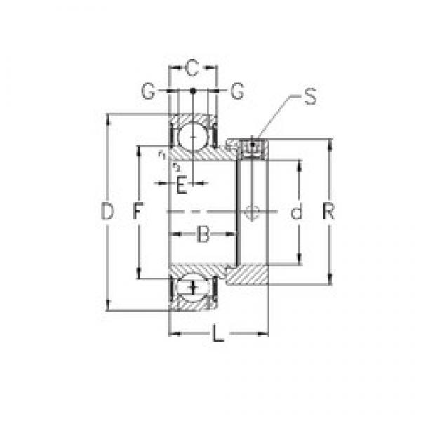 40 mm x 80 mm x 30,2 mm  NKE RAE40-NPPB deep groove ball bearings #3 image