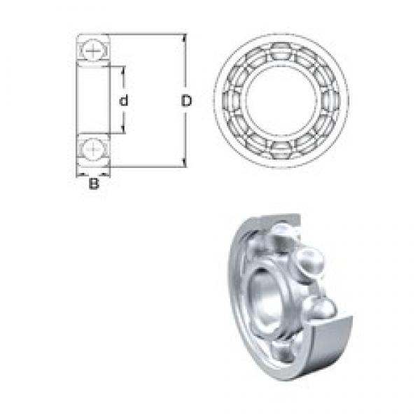 2,5 mm x 8 mm x 2,8 mm  ZEN 602X deep groove ball bearings #3 image