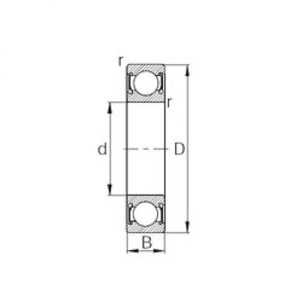 190 mm x 260 mm x 33 mm  CYSD 6938-2RS deep groove ball bearings #3 image