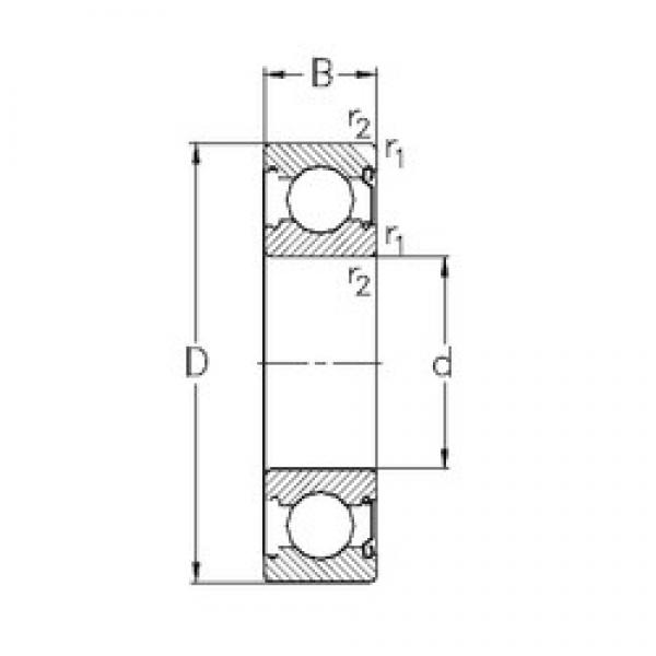 70 mm x 125 mm x 24 mm  NKE 6214-Z deep groove ball bearings #3 image