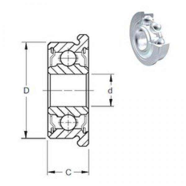 6 mm x 17 mm x 6 mm  ZEN F606-2Z deep groove ball bearings #3 image