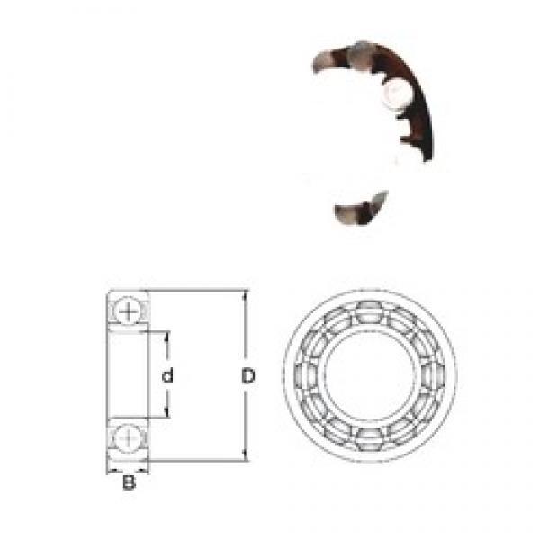 9 mm x 26 mm x 8 mm  ZEN P629-GB deep groove ball bearings #3 image