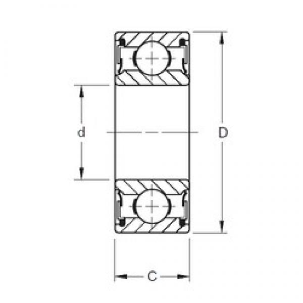 100 mm x 150 mm x 24 mm  Timken 9120NPP deep groove ball bearings #3 image