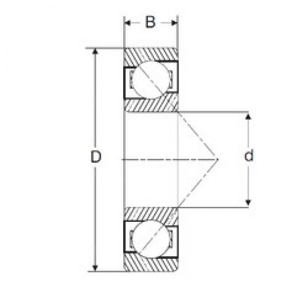 12,7 mm x 33,338 mm x 9,53 mm  SIGMA LJT 1/2 angular contact ball bearings #3 image