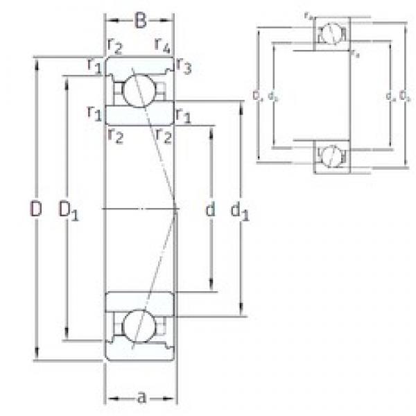 45 mm x 75 mm x 16 mm  SNFA VEX 45 7CE1 angular contact ball bearings #3 image