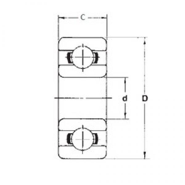1,5 mm x 6 mm x 3 mm  FBJ 601XZZ deep groove ball bearings #3 image