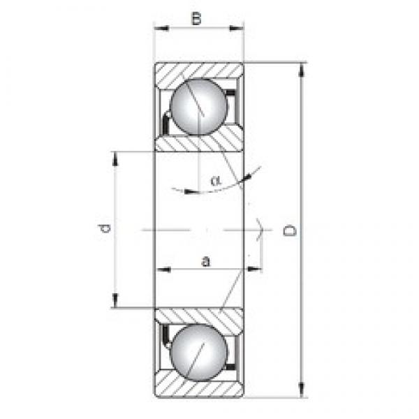 17 mm x 35 mm x 10 mm  ISO 7003 C angular contact ball bearings #3 image