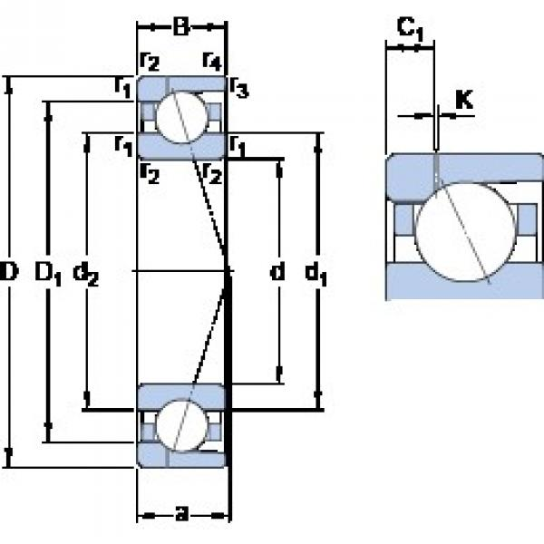 80 mm x 125 mm x 22 mm  SKF 7016 ACD/P4AH1 angular contact ball bearings #3 image
