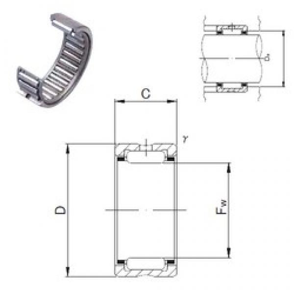 JNS NK100/36 needle roller bearings #3 image