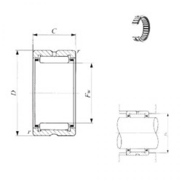 IKO TAF 9011035 needle roller bearings #3 image