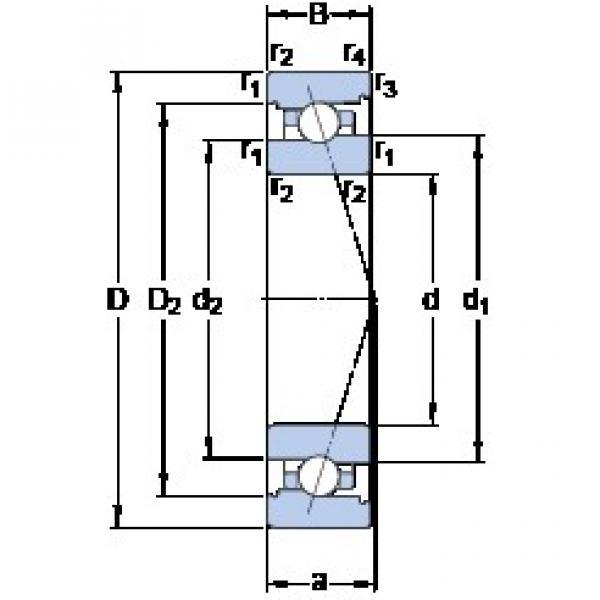 60 mm x 95 mm x 18 mm  SKF 7012 ACB/HCP4A angular contact ball bearings #3 image