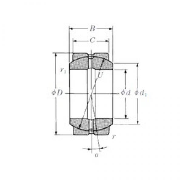 60 mm x 90 mm x 44 mm  NSK 60FSF90 plain bearings #3 image