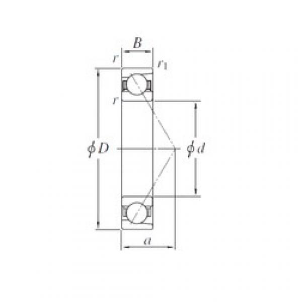 100 mm x 180 mm x 34 mm  KOYO 7220B angular contact ball bearings #3 image