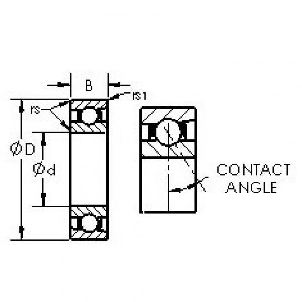 AST 71815C angular contact ball bearings #3 image